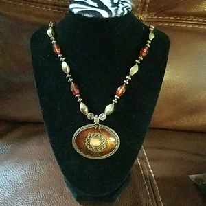 A long necklace with a gorgeous pendant